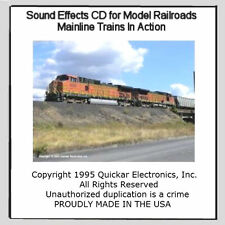 GREAT SOUND EFFECTS CD FOR HO SCALE MODEL RAILROADS MAINLINE TRAINS IN ACTION
