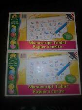 MANUSCRIPT PAPER PAD MANUSCRIPT WRITING GUIDE PRESCHOOL - 2ND GRADE (LOT OF 2)