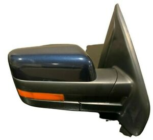 2014 FORD F-150 OEM Passenger POWER MIRROR w/FOLD/memory/puddle - Blue Jeans