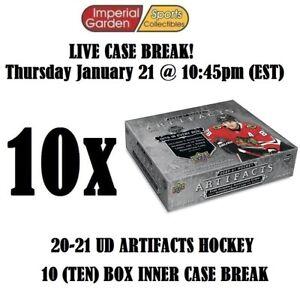 20-21 UD ARTIFACTS HOCKEY 10 (TEN) BOX CASE BREAK #2318 - Philadelphia Flyers