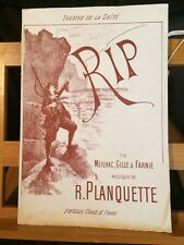 R. Planquette RIP opéra partition chant piano éditions Choudens