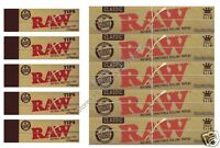 RAW KINGSIZE ROLLING PAPERS CLASSIC AND RAW HEMP TIPS KING SIZE PAPER SET