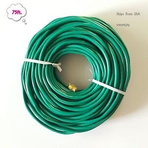 75ft. RJ11 RJ12 Green DSL CAT5e Telephone Data Cable for Centurylink, AT&T, etc.