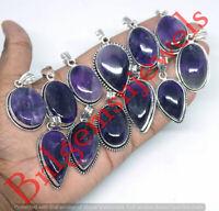 925 Sterling silver overlay Amethyst Gemstone Pendants 1pcs Wholesale Lot VL-1