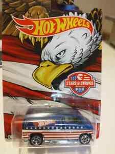hot wheels stars and stripes 77 dodge van diecast