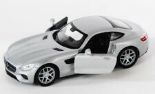 BLITZ VERSAND Mercedes AMG GT silber / silver Welly Modell Auto 1:34 NEU & OVP