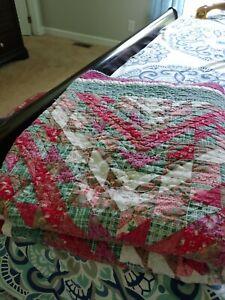 Handmade Christmas Quilt Queen size