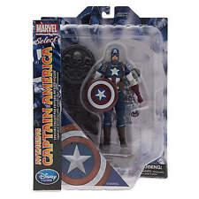 """Disney Store Marvel Select AVENGING CAPTAIN AMERICA Avengers 7"""" Diamond Civil"""