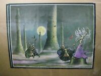 SPELL OF THE WITCH APOCALYPTIC WARFARE BATTLE  VINTAGE POSTER BAR GARAGE CNG1376