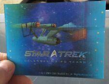 STAR TREK LENTICULAR CARD 40th Anniversary Enterprise