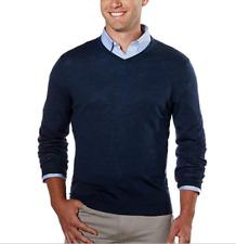 Calvin Klein Extra Fine Merino Wool Sweater V-neck Size M Zimone