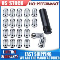 20pcs Chrome Wheel LockNut Lug Nuts Bulge Acorn 12x1.5 For Ford Fusion Focus Esc