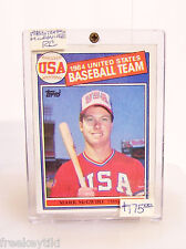 1985 Topps Mark McGwire ROOKIE RC #401 1984 United States USA Baseball Team