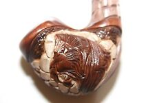 "SMOKING TOBACCO PIPE ""LION HEAD ON ROCKS"" 254 (PEAR)"