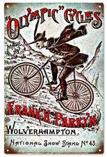 Olympic Cycles Frank H Parkyn Walyerhampton Bicycle Sign