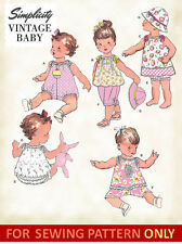 SEWING PATTERN! MAKE VINTAGE STYLE BABY ROMPER~DRESS~PANTIES~HAT! PREEMIE~24 MO