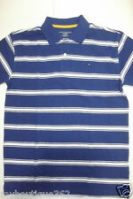 TOMMY HILFIGER BOYS BLUE MULTI STRIPE POLO SHIRT X-LARGE (16/18) NEW WITH TAG