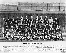 1957 CHICAGO BEARS 8X10 TEAM PHOTO WRIGLEY FIELD HOFs DOUG ATKINS BILL GEORGE