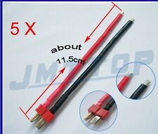 5 PCS Deans Style T Plug Male Connector Silicone Wire With 11.5CM 14awg