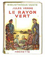 JULES VERNE / LE RAYON VERT / HACHETTE / LEON BENETT ? / LIVRE 1947