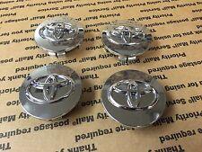 NEW TOYOTA 4 PCS CENTER WHEEL WHEELS CAPS HUBS CAP RIM RIMS 62MM CHROME MIRROR