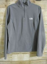 The North Face Fleece Pull Over Jacket Top Women's Long Sleeve Gray Large Zip