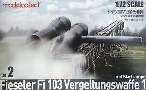 MODELCOLLECT UA72033 Fieseler Fi103 Vergeltungswaffe 1 mit Startrampe in 1:72