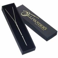 Harry Potter Hermione Wand Replica Necklace Pendant - Boxed Silver Plated