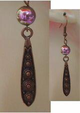 Teardrop Handmade Jewelry Hook Women Copper Earrings Beaded Charm Drop Dangle