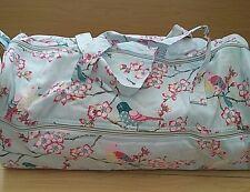 BNWT-Hobby Gift-Blossom and Birds Design on Blue Knitting/Crochet/Project Bag