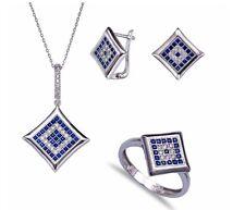 Sterling Silver 925 Evil Eye Jewellery Set