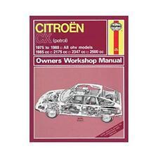 CITROËN CX manuel atelier propriétaire par livre de poche 9780857336040 NEUF