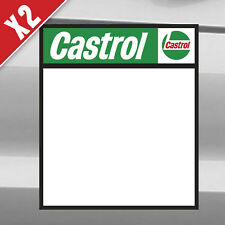 CASTROL Pair of rally / track car door decals stickers 400 x 465mm X2