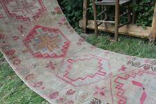 """Vintage Handmade Turkish  Oushak Runner Rug 150""""x32"""""""