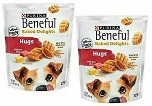 Purina Beneful Baked Delights Hugs Dog Treats -Pack of 2