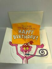 1981 Hallmark The Pink Panther Happy Birthday Pop-Up Greeting Card