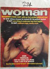 WOMAN MAGAZINE 1978 AUG 5,JOHN TRAVOLTA COVER