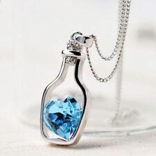 Blauer Kristall Herzanhänger