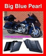 Stretched Saddlebags Bottoms Big Blue Pearl for Harley Street Glide FLHR 93-13
