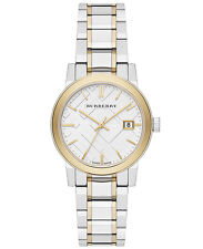 NEW Burberry Silver Dial Two-tone Silver and Gold-tone Bracelet  Watch BU9115