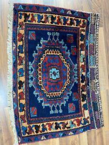 ✔ Afshar | 82 x 55 | Handgeknüpft | Orientteppich | Carpet | Rug