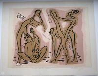 Helge LEIBERG Dresden 1954 Farb-Lithographie ARMENISCHER TANZ 1981 handsigniert