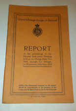 Report of Proceedings of the Grand Orange Lodge of Ireland half-yearly June 1970