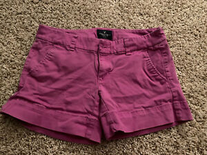 American Eagle Shorts Size 2 Purple Midi Stretch