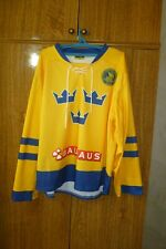 Sverige Sweden Neh Ice Hockey Jersey Yellow Men Size S/M Small/Medium