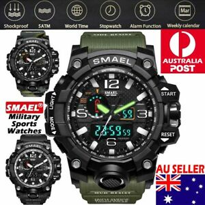 SMAEL Mens Waterproof Sports Military Shock Analog Quartz Digital Wrist Watch