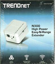 New! TRENDNET N300 High Power Easy-N-Range Extender TEW-737HRE Wireless 300 Mbps