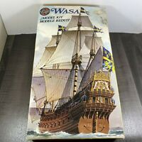 Vintage Airfix Wasa 1628 Ship 09256-8 1:144 scale model kit Tatty Box 1981
