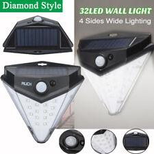 MUCH 32 LED Diamond Shape 4 sides Solar PIR Motion Sensor light Waterproof  US