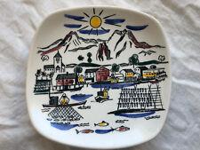 """Vintage Stavangerflint Norway Inger Waage Small 5 1/8"""" Plate"""